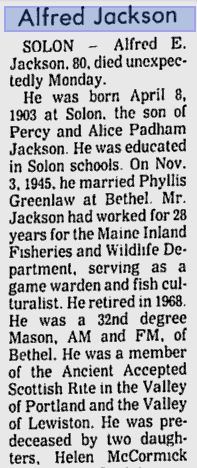 Obituary of Alfred Jackson