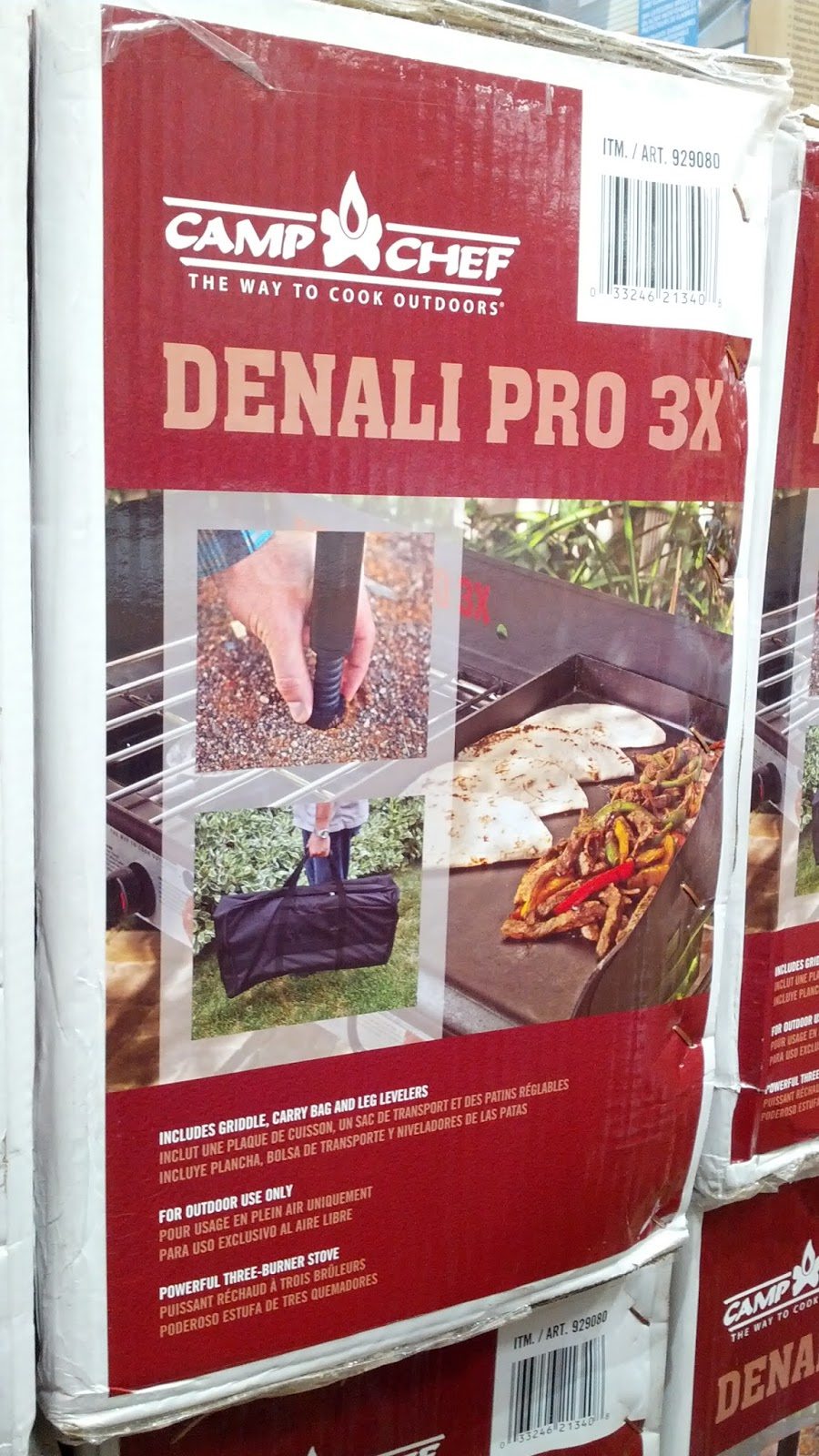 Denali Camp Stove Camp Chef Denali Pro 3x Propane Burner Stove With Griddle Costco