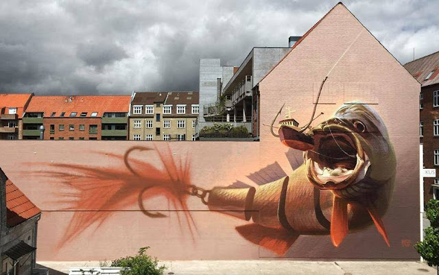 Along with the piece from Conor Harrington which you discovered yesterday, Wes21 and Onur are also in Aalborg, Denmark where they just finished working on a new piece.