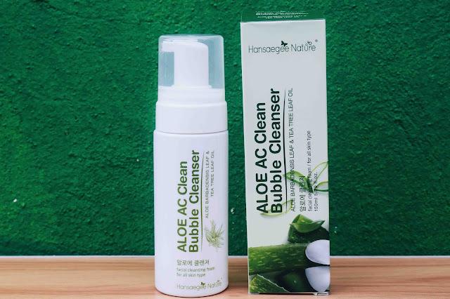 Pencuci Wajah Aloe AC Clean Bubble Cleanser Dari Hansaegee Nature