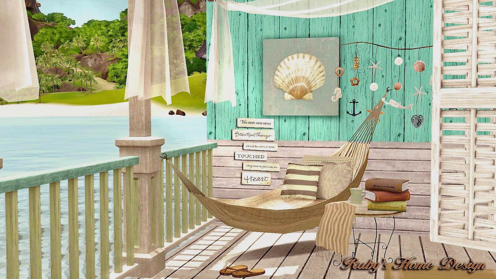 hanging chair the sims 4 staples red leather office sims3 sea retreat 海邊度假屋 ruby 39s home design