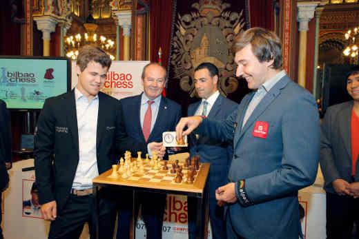 Ronde 3 à Bilbao: Carlsen bat Sergey Karjakin sans coup férir - Photo © site officiel