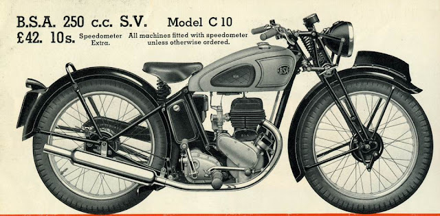 Original BSA C10 Advert