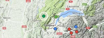 Kaart Frankrijk Station des Rousses