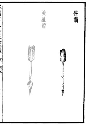 Ming Chinese Sleeve Arrow