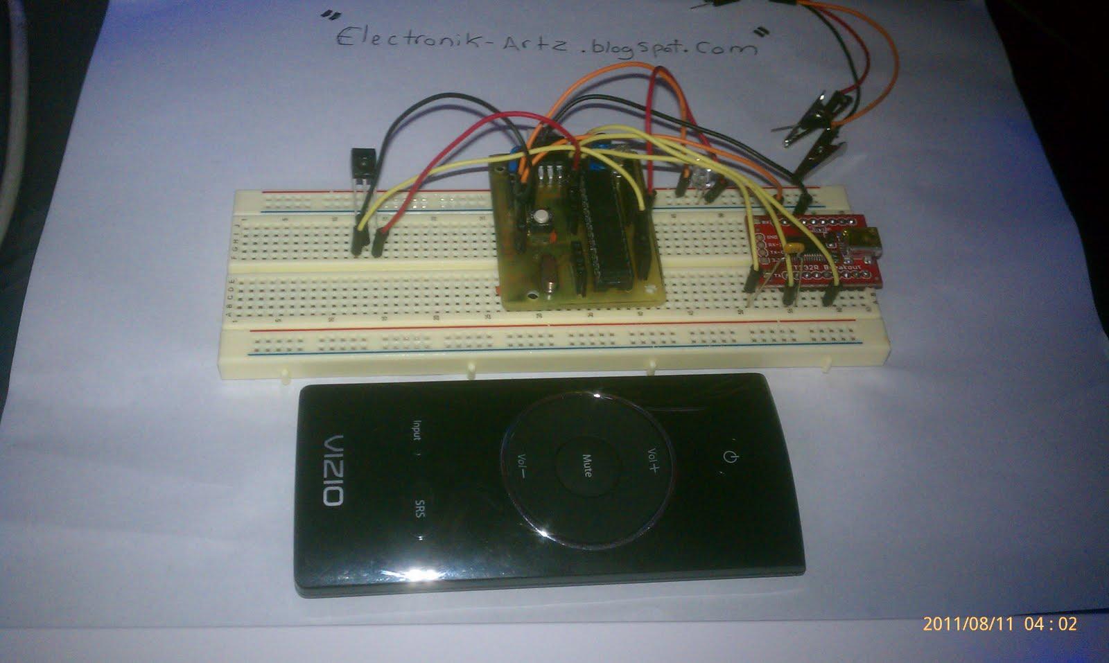 Electronik Artz: Arduino + IR Detector = PC Remote