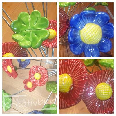 http://www.kleiner-kreativblog.de Keramik-Blumen