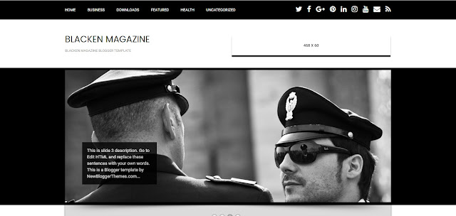 Blacken Magazine Responsive Template