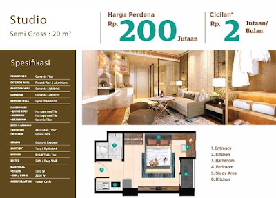 Type Studio Serpong Garden Apartment