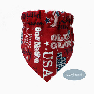 Old Glory Patriotic Pet Scrunchie Bandana or Collar Slipcover Red Navy
