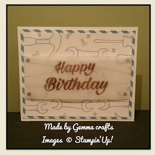 Stampin'Up! Nailed it! Big Birthday