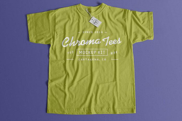 Flat T-Shirt Mockup PSD