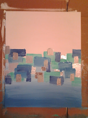 abstract rectangles painting