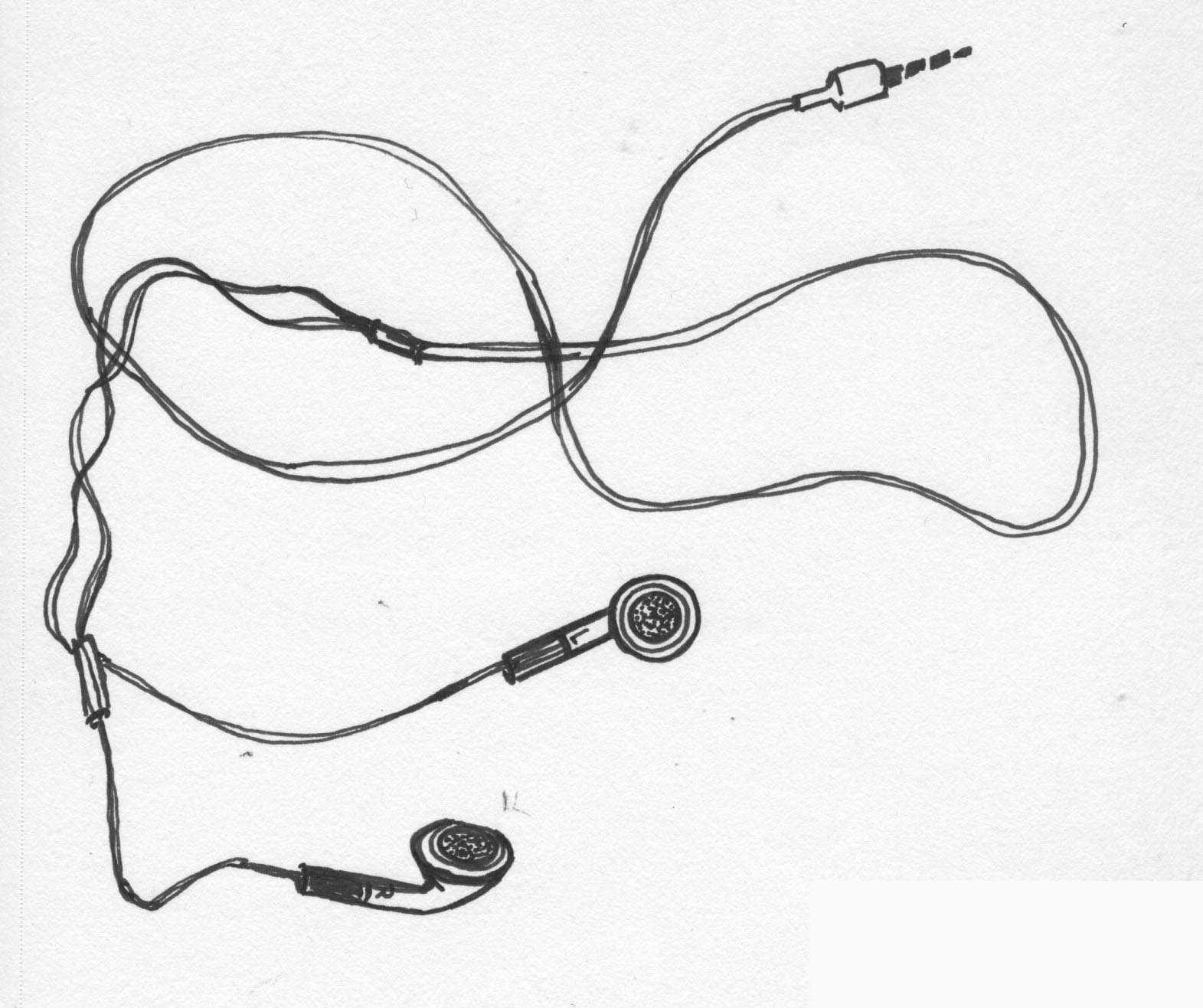 hight resolution of earphones drawing