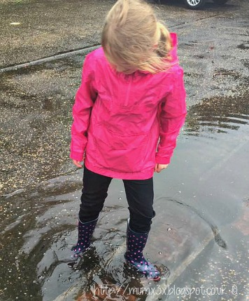 Splashing in puddles