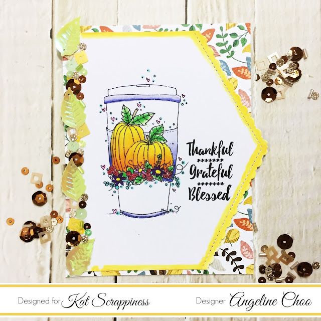 ScrappyScrappy: Fall Coffee Lovers Bloghop with Kat Scrappiness #scrappyscrappy #katscrapppiness #fall2017clh #coffeelovingcardmakers #coffeelovingpapercrafters #unitystampco #stamp #stamping #pumpkinspicelatte #thanksgiving #timholtz #distressoxide #katscrappinessdie #katscrappinesssequins #giveaway #scrappyscrappygiveaway