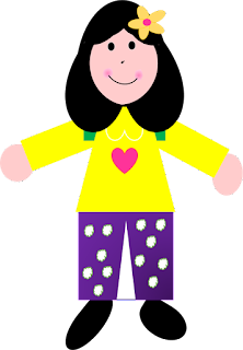 Children holding hands clipart