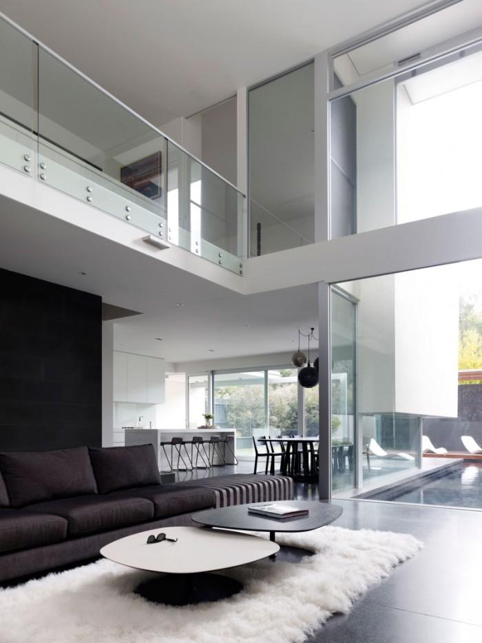 Hogares frescos dise o de interiores en casa de dos pisos for Pisos para terrazas interiores
