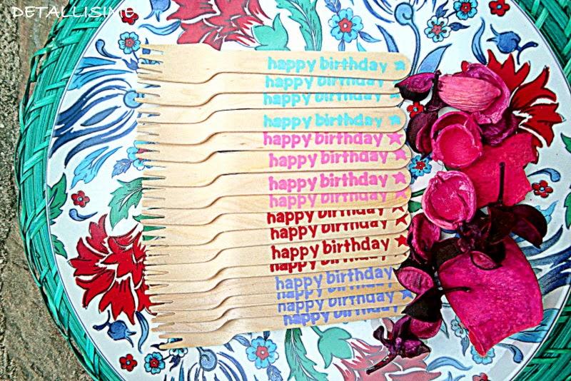 cubiertos para cumpleaños