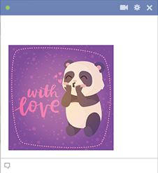 With Love Panda Sticker
