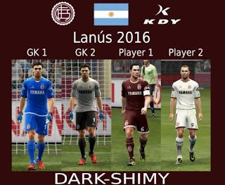Kit Lanus 2016-2017 Liga Argentina Pes 2013
