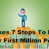 It takes 7 Steps To Make Your First Million Pesos Be Inspired And Keep The Faith!