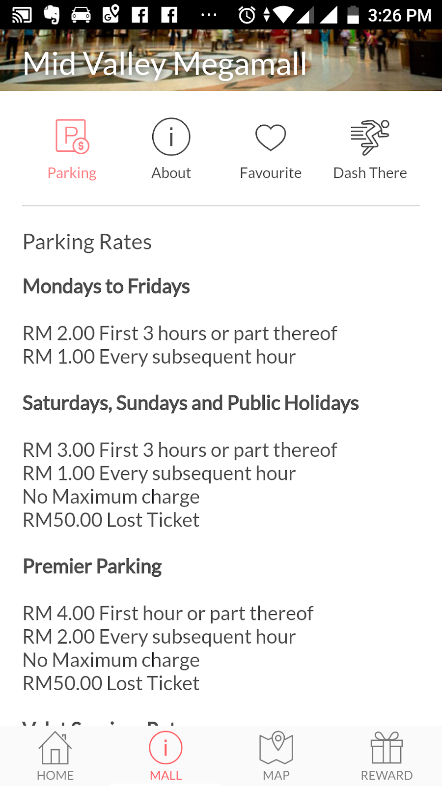 in the klang valley one can also browse through the many shopping sites to get information about opening hours parking rates and available brands