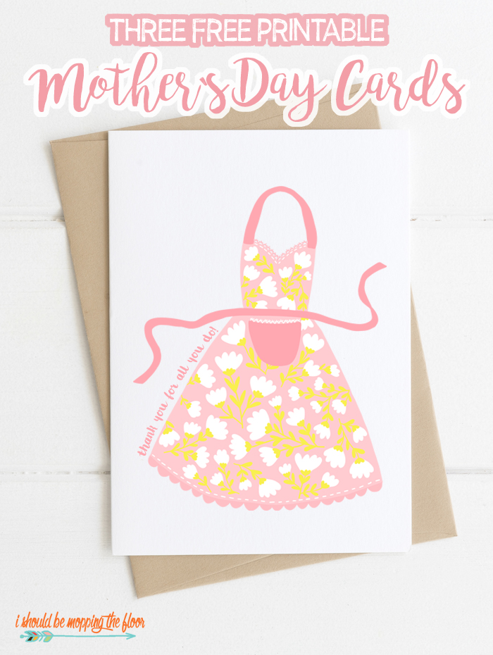 photograph about Printable Mothers Day Cards for Kids called Absolutely free Printable Moms Working day Playing cards i ought to be mopping the area