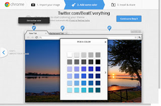 How to create theme for Google Chrome, change color of respective region