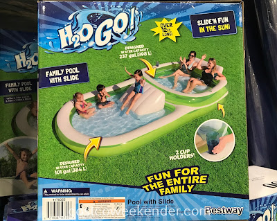 Costco 1179355 - Bestway Family Pool with Slide: great for those hot, summer days under the sun