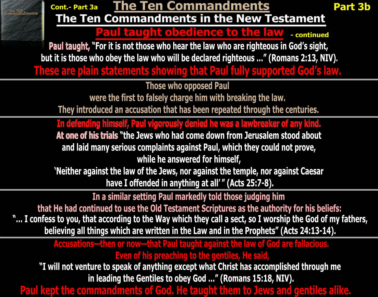 """an analysis of the ten commandments in the bible The sabbath is part of the ten commandments if the sabbath """"1 and the bible makes no outside of the ten commandments, and one of the ten has been."""