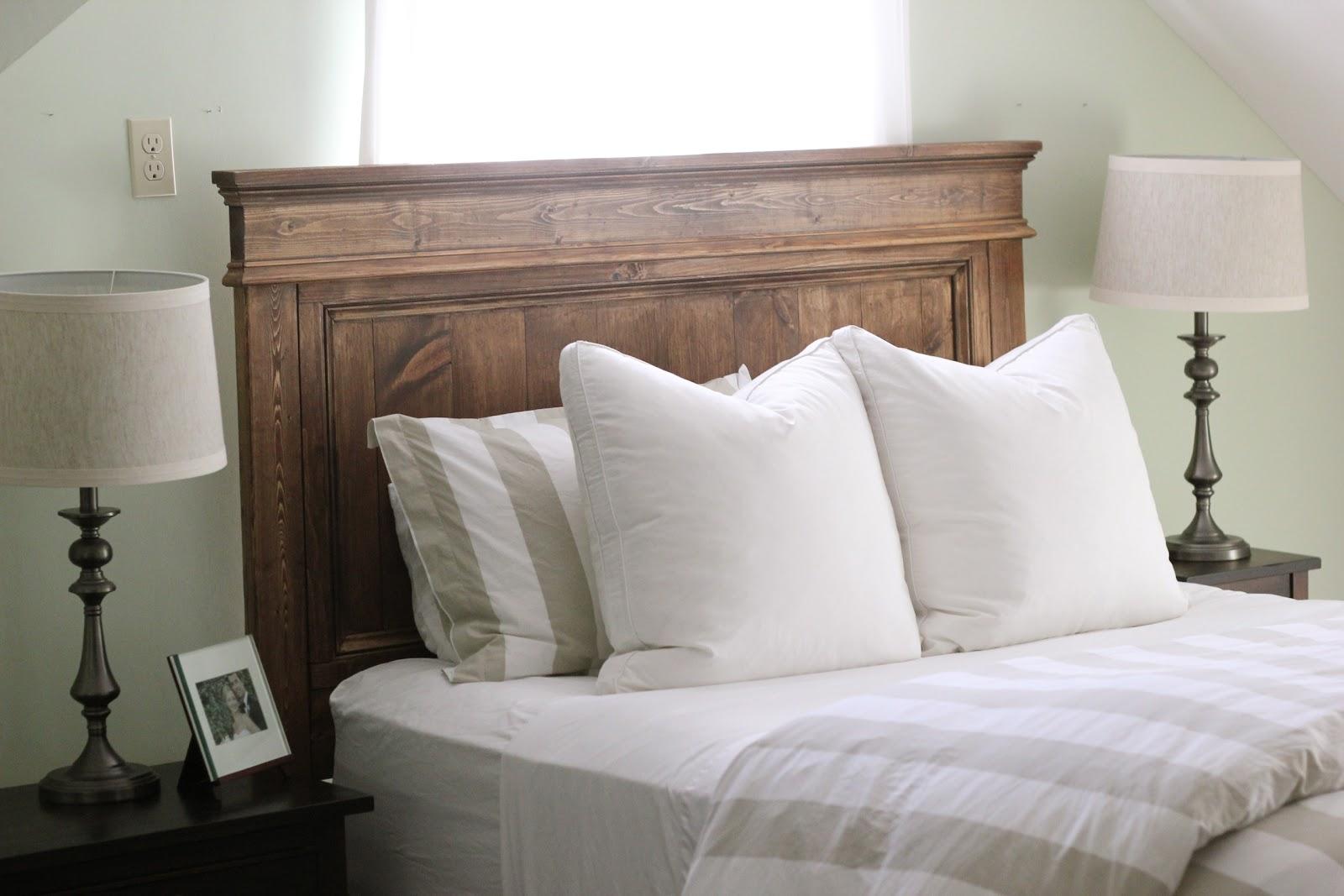 Jenny Steffens Hobick: We built a bed! DIY Wooden Headboard