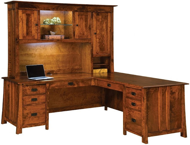best buy l shaped rustic looking office furniture for sale