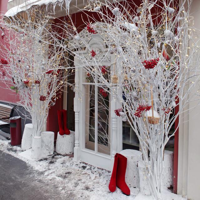 новогоднее оформление фасадов патрики