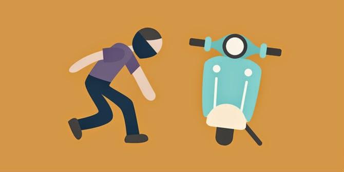 modus kejahatan sepeda motor