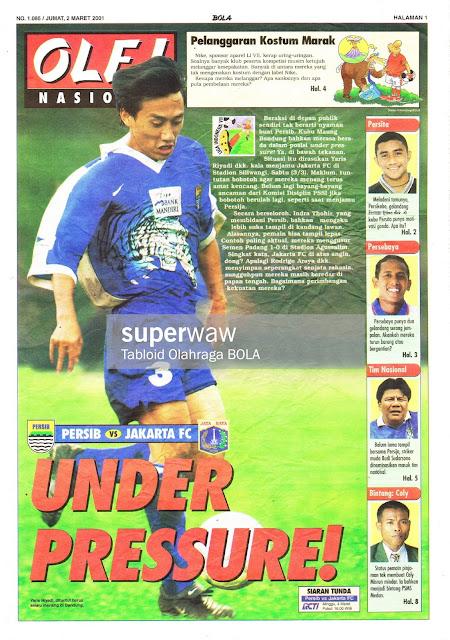 PERSIB VS JAKARTA FC UNDER PRESSURE