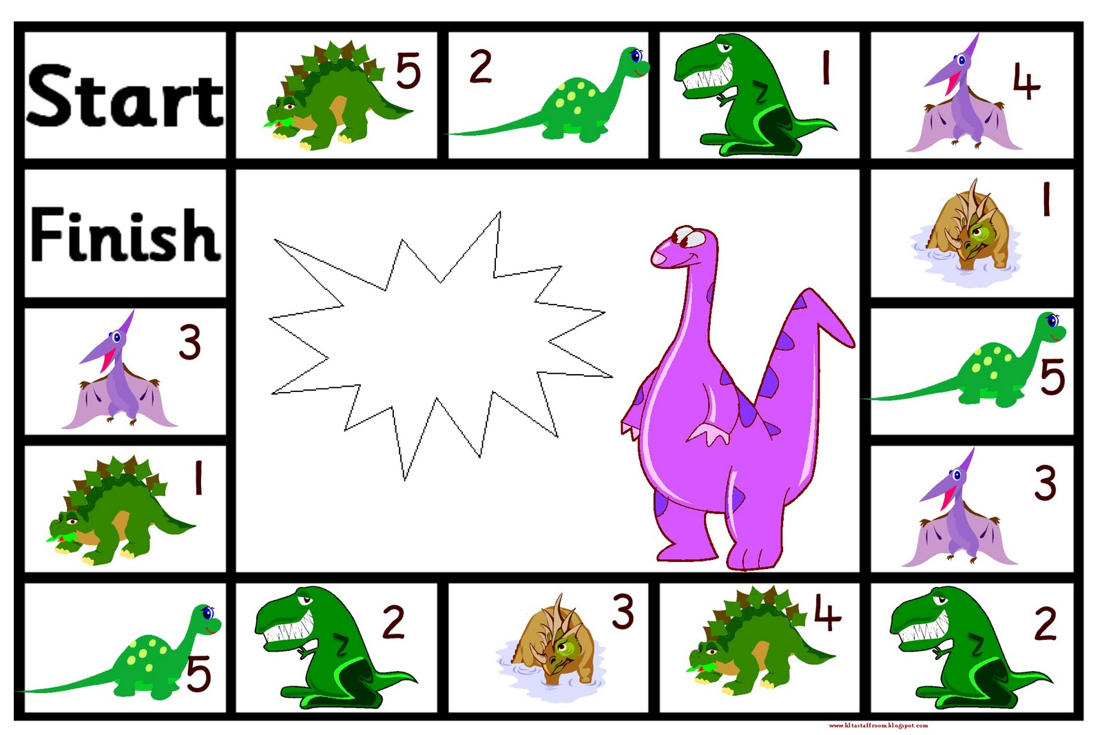 Debbie S Resource Cupboard Dinosaur Adding Or Subtracting Game