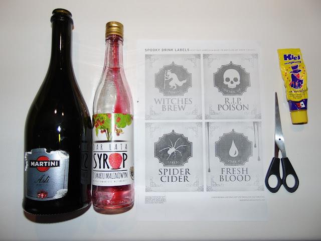 Jak ozdobić butelki na Halloween
