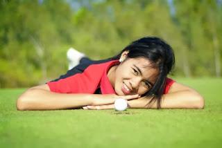 Golf Hua Hin Thailand Caddy weiblich