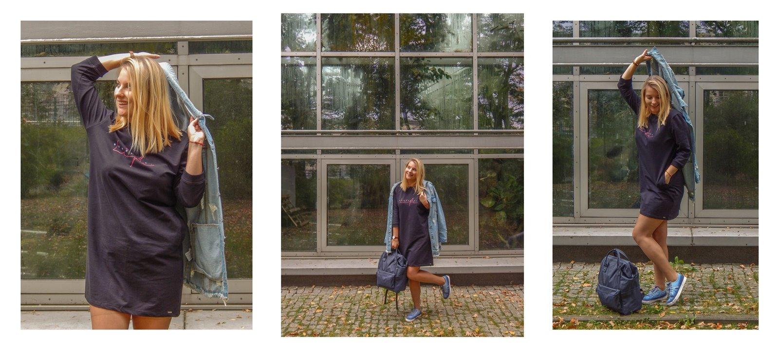 5A volcano sportowe sukienki dla dorosłych dzieci jesienne stylizacje do pracy do szkoły na uczelnię blondynka blog łódź moda styl lifestyle blogerki z łodzi współpraca blog pasja