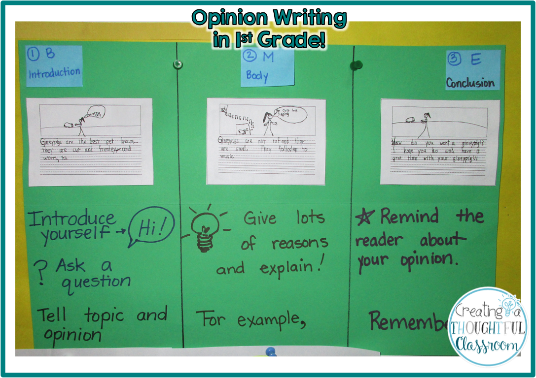 Opinion Writing In First Grade