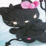 patron gratis hello kitty demonio amigurumi | free amigurumi pattern  hello kitty devil