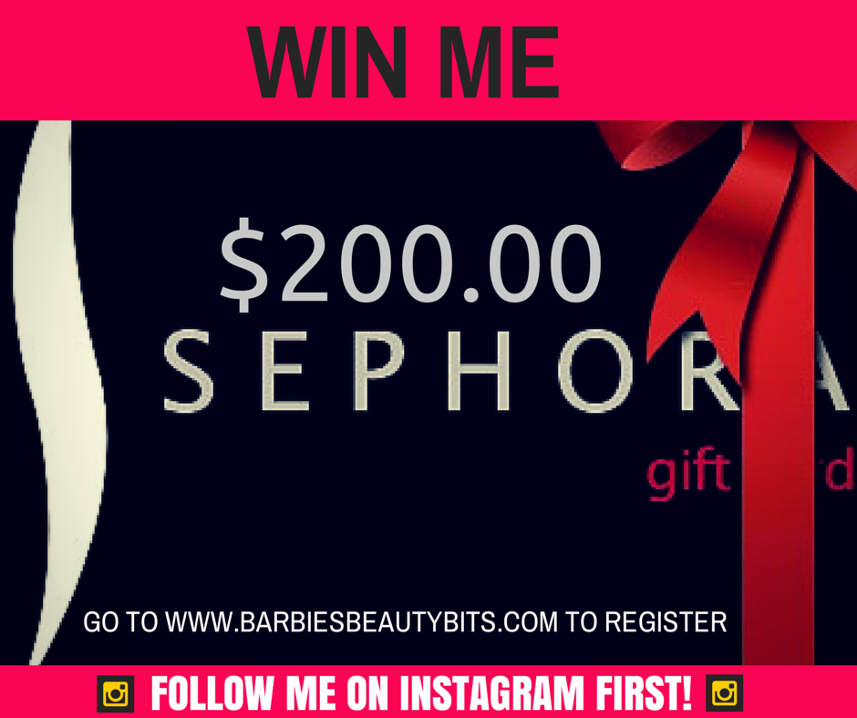 Win a sephora gift card by barbies beauty bits