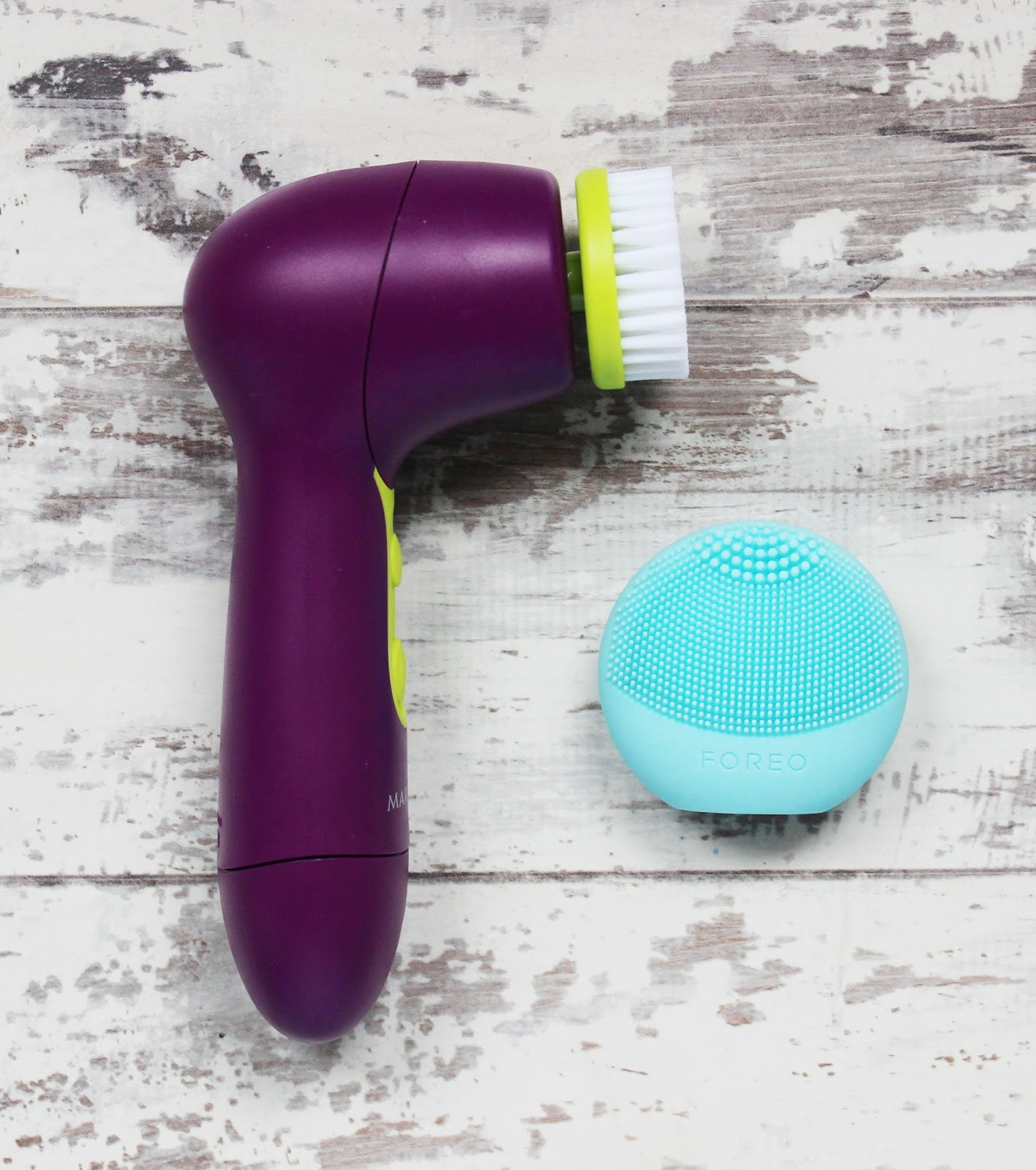 affordable cleansing brushes from Mary Kay and FOREO