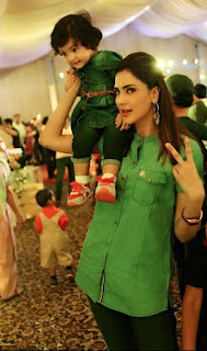 Fiza Ali with Daughter
