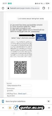 Berhasil membuat akun v2ray vmess server Indonesia