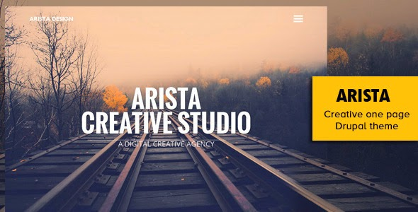Arista Creative One Page Drupal Theme