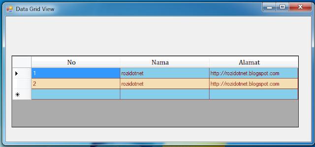 Mendesain atau Membuat Warna pada Baris Datagridview di Vb.Net