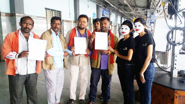 Sankara Eye Hospital Celebrates World Sight Day with Eye Examination for Porters at Railway Station