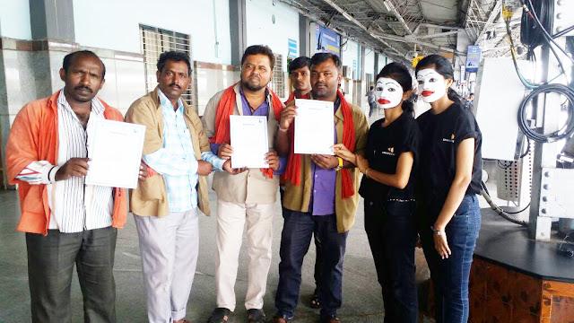 Sankara Eye Hospital Celebrates World Sight Day with Eye Examination for Porters at Railway Station